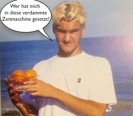 Back to the Future: Federer nach dem Gewinn des Orange Bowls 1998