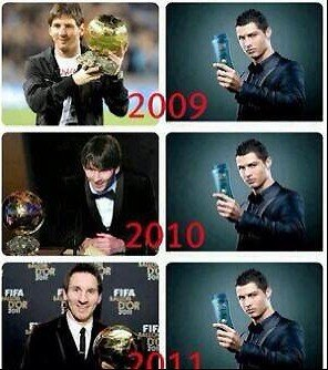 Weltfussballerwahl: Messi gegen Ronaldo